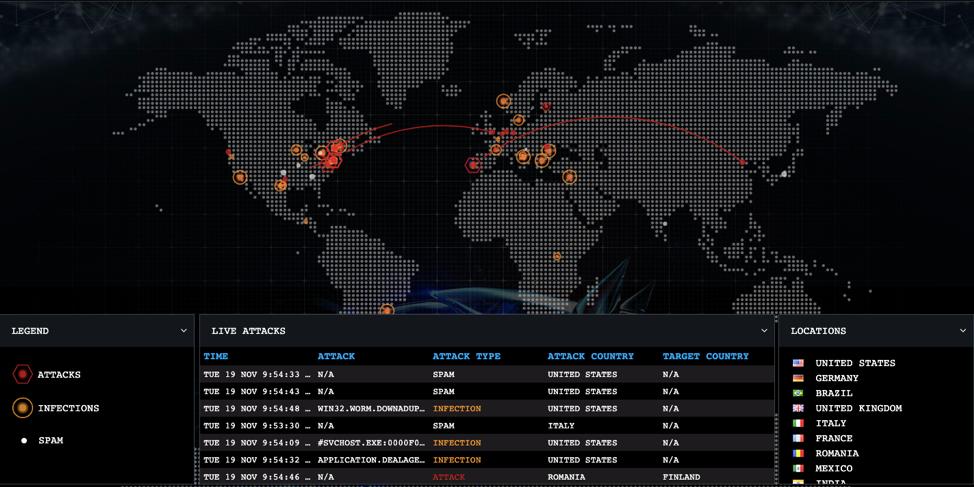 Bitdefender-Threat-Map