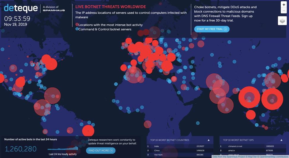 Deteque-Threat-Map