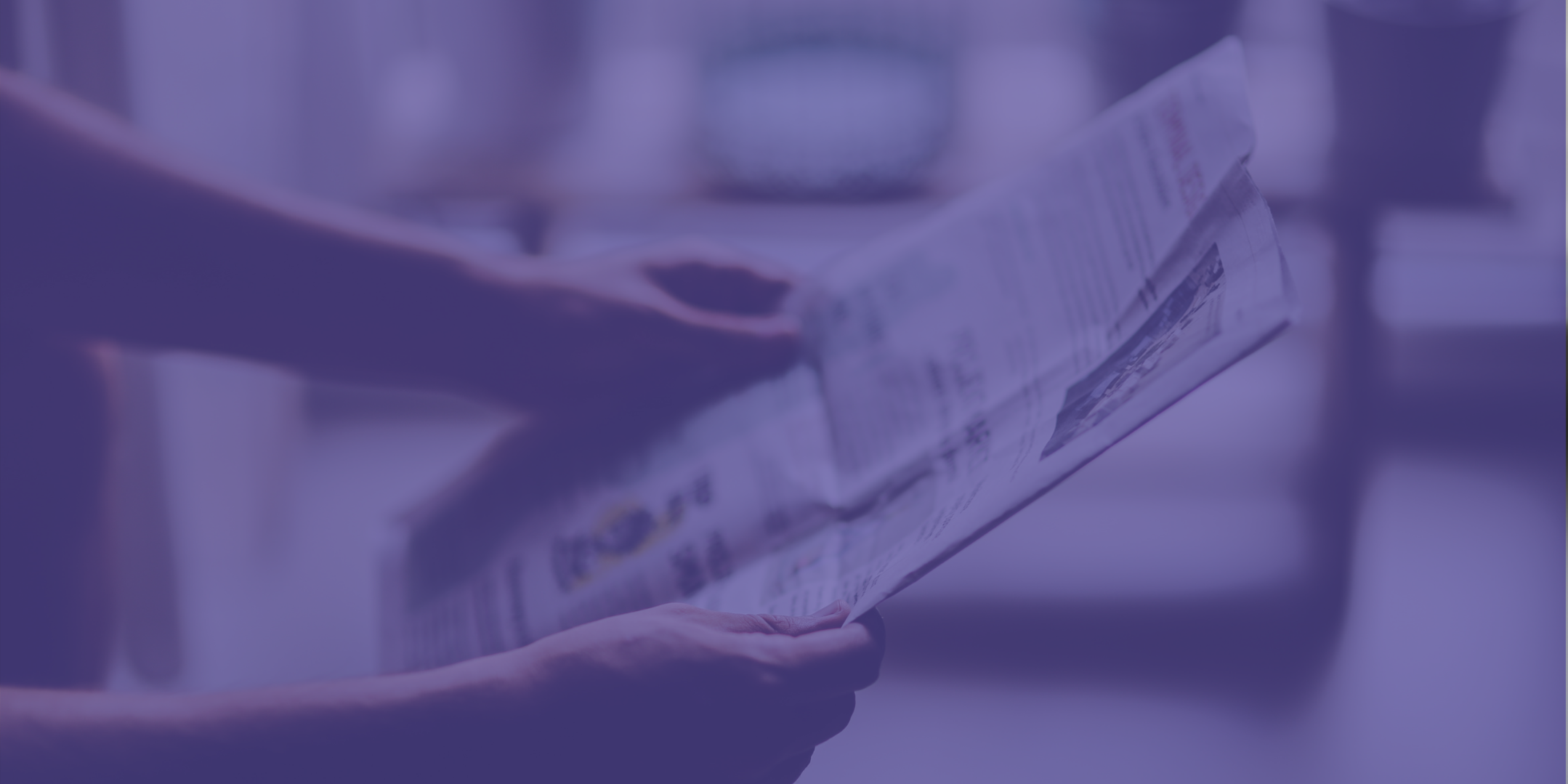 Security news. Cybersecurity. Reading newspaper.